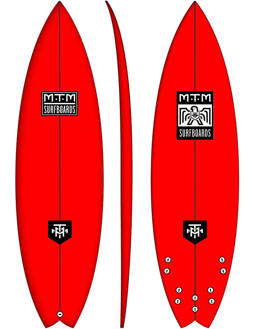 Vulcan HP high performance shortboard surfboard